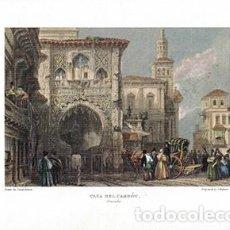 Collezionismo di affissi: LITOGRAFIA (REPRODUCCION) GRANADA. CASA DEL CARBÓU - REPLIT-064. Lote 189334402
