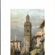 Collectionnisme d'affiches: LITOGRAFIA (REPRODUCCION) VALENCIA, TOWER OF SANTA CATALINA - REPLIT-066,4. Lote 220405816