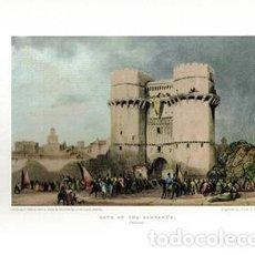 Colecionismo de cartazes: LITOGRAFIA (REPRODUCCION) VALENCIA, GATE OF THE SERRANO'S - REPLIT-067,4. Lote 220405797