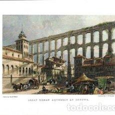 Collectionnisme d'affiches: LITOGRAFIA (REPRODUCCION) SEGOVIA, GREAT ROMAN AQUEDUT AT SEGOVIA - REPLIT-068. Lote 189547472