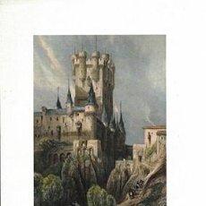 Collectionnisme d'affiches: LITOGRAFIA (REPRODUCCION) SEGOVIA. ALCAZAR AT SEGOVIA - REPLIT-070. Lote 189550418