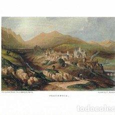 Collezionismo di affissi: LITOGRAFIA (REPRODUCCION) PLASENCIA (EXTREMADURA), PLACENGIA - REPLIT-074. Lote 189614916