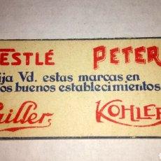 Coleccionismo de carteles: ANTIGUO Y PEQUEÑO CARTEL DE CARTÓN DE NESTLÉ.. Lote 189984491