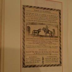 Colecionismo de cartazes: TOROS Y TOREROS GRUPO EDITORIAL BABILONIA.CARTELES HISTORICOS 23 X 13 CMS.TOROS EN EL PUERTO 1780. Lote 190399117
