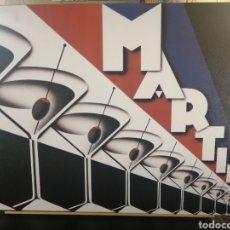 Coleccionismo de carteles: CUADRO CARTEL ORIGINAL BAR Y PUB: MARTINI. REPRODUCCION EN MADERA 100X70 CM.. Lote 189935683
