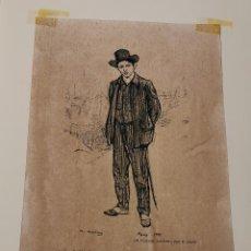 Colecionismo de cartazes: REPRODUCCIÓN RAMON CASAS CARBÓ - RETRATO PABLO RUIZ PICASSO - REPROD. AUTORIZADA - 46 X 32 CM. Lote 192137006