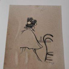 Colecionismo de cartazes: REPRODUCCIÓN RAMON CASAS CARBÓ - DAMA EN EL BAR - REPROD. AUTORIZADA - 46 X 32 CM. Lote 192138663