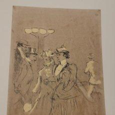 Colecionismo de cartazes: REPRODUCCIÓN HENRI DE TOLOUSE LAUTREC - ESCENA GALANTE PARIS - REPROD. AUTORIZADA - 46 X 32 CM. Lote 192139108