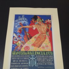 Coleccionismo de carteles: CARTEL FERIA DE VALENCIA. 1928.. Lote 192875608