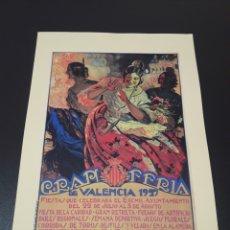 Coleccionismo de carteles: CARTEL FERIA DE VALENCIA. 1927.. Lote 192875760