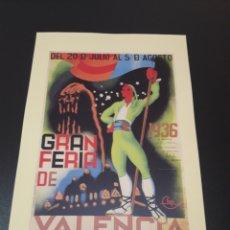 Coleccionismo de carteles: CARTEL FERIA DE VALENCIA. 1936.. Lote 192876510