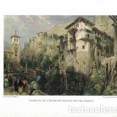 Collezionismo di affissi: LITOGRAFIA (REPRODUCCION) GRANADA. REMAINE OF A MOORISH BRIDGE ON THE DARRO - REPLIT-060. Lote 194934197