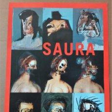 Coleccionismo de carteles: ANTONIO SAURA SUPERPOSICIONES CARTEL ORIGINAL EXPOSICIÓN CASA DE LA PROVINCIA DE SEVILLA 2003 RARO. Lote 195278796
