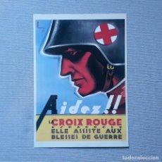 Coleccionismo de carteles: AIDEZ! LA CROIX ROUGE ESPAGNOLE - CARTELLS CATALANS DE LA GUERRA CIVIL. Lote 198197630