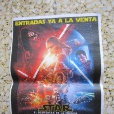 Coleccionismo de carteles: STAR WARS - CARTEL PROMOCIONAL STAR WARS (EL DESPERTAR DE LA FUERZA) - 2015. Lote 198785972