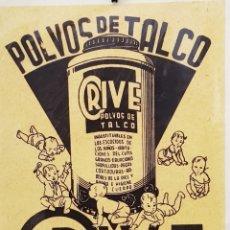 Colecionismo de cartazes: CARTEL REPLICA - POLVOS DE TALCO - LABORATORIOS ORIVE - LOGROÑO - CAR179. Lote 199209535