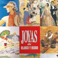 Colecionismo de cartazes: 12 LAMINAS JOYAS DE BLANCO Y NEGRO.. Lote 202016941