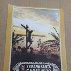 Coleccionismo de carteles: CARTEL REPRODUCCIÓN SEMANA SANTA DE CÁDIZ 1974-CRISTO DE LA PALMA. Lote 202600412