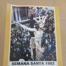 Coleccionismo de carteles: CARTEL REPRODUCCIÓN SEMANA SANTA DE CÁDIZ 1982-CRISTO DEL PERDÓN. Lote 202600492