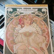Coleccionismo de carteles: ALMANAQUE BB ART 1997 ART NOVEAU. Lote 203854996
