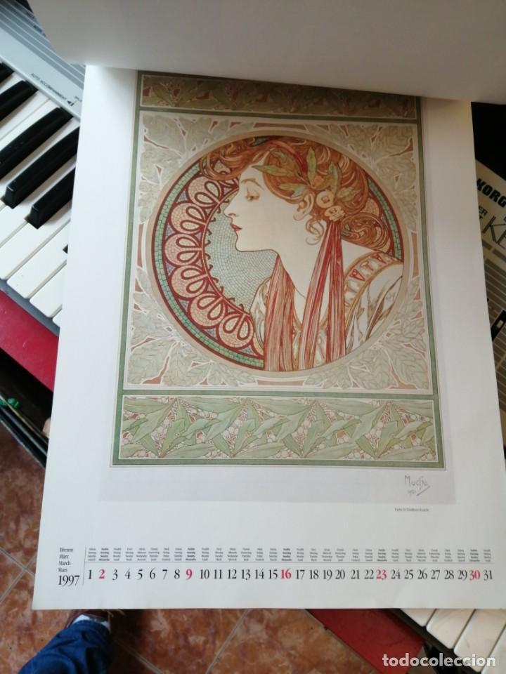 Coleccionismo de carteles: ALMANAque bb art 1997 ART NOVEAU - Foto 2 - 203854996
