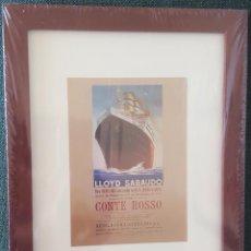 Coleccionismo de carteles: CUADRO CON LAMINA QUE REPRODUCE CARTEL DE LA COMPAÑIA NAVIERA ITALIANA LLOYD SABAUDO.A BUENOS AIRES. Lote 205539505