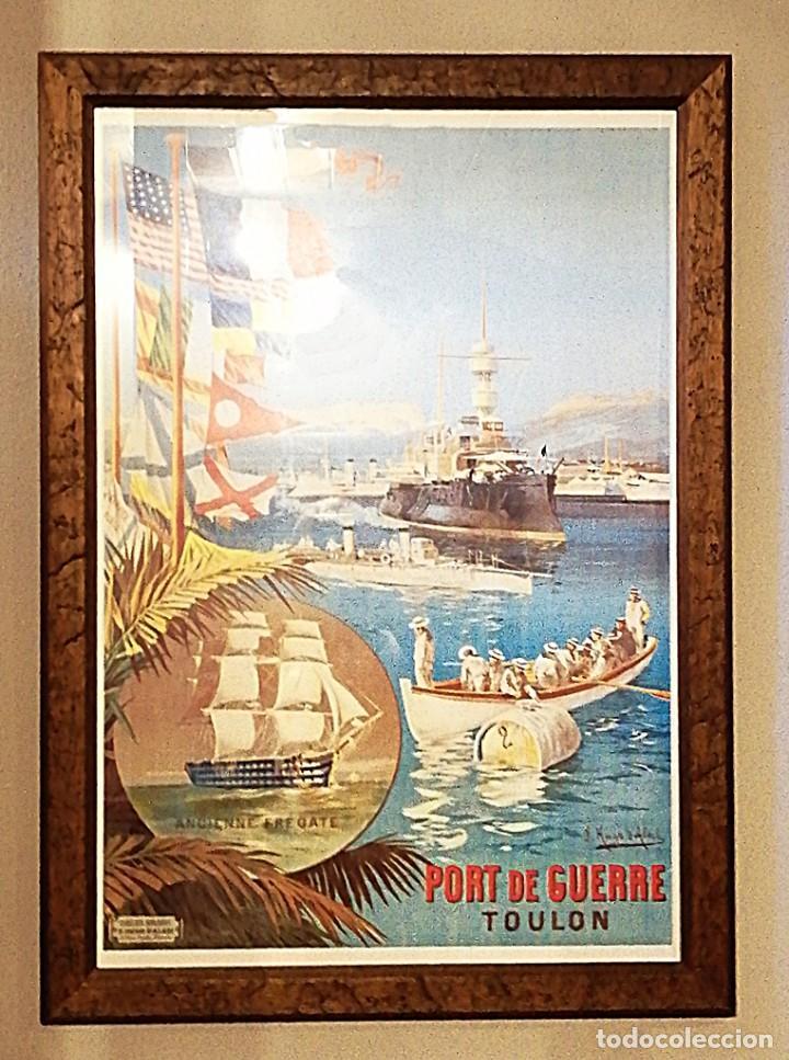 REPRODUCCIÓN CARTEL BASE NAVAL FRANCESA DE TOULON (Coleccionismo - Reproducciones de carteles)