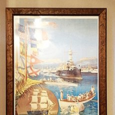 Coleccionismo de carteles: REPRODUCCIÓN CARTEL BASE NAVAL FRANCESA DE TOULON. Lote 205834548