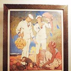 Coleccionismo de carteles: REPRODUCCIÓN ANTIGUO CARTEL DE ALISTAMIENTO A LA MARINA FRANCESA. Lote 205836547