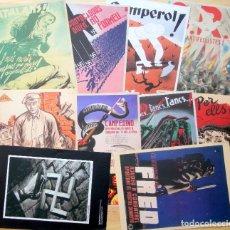 Coleccionismo de carteles: LOTE 10 CARTELES CATALANES GUERRA CIVIL – REPRODUCCIONES ED.SAPIENS – MAX 22X30CM. Lote 205872020