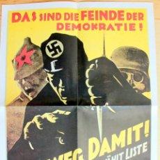 Coleccionismo de carteles: LOTE POSTER + 2 LAMINAS PERIODO NAZI – REP.1983. Lote 205872038