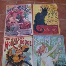 Coleccionismo de carteles: LOTE DE 4 CARTELES PLASTIFICADOS. DECORACION ANTIGUA.. Lote 207302585