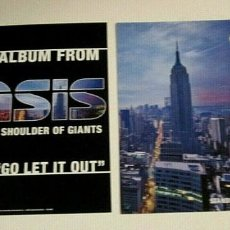 Collectionnisme d'affiches: OASIS - STANDING ON THE SHOULDER OF GIANTS - PROMO POSTER FLAT 32 X 32 IMPECABLE. Lote 208683870