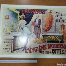 """Collectionnisme d'affiches: CARTEL VINTAGE """"LAVABOS DE STYLE H.M L'HYGIENE MODERNE"""". Lote 208976677"""