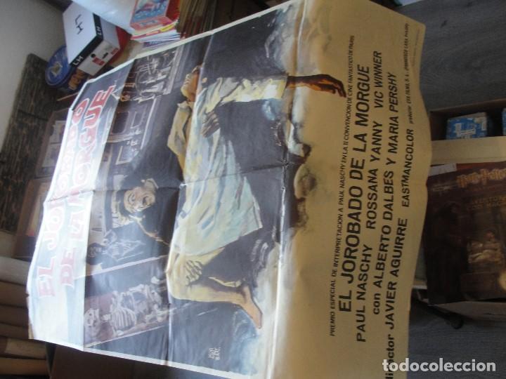 Coleccionismo de carteles: PAUL NASCHY EL JOROBADO DE LA MORGUE - 100 X 70 CMS - ENVIO GRATIS - CARTEL ORIGINAL - Foto 2 - 182701922