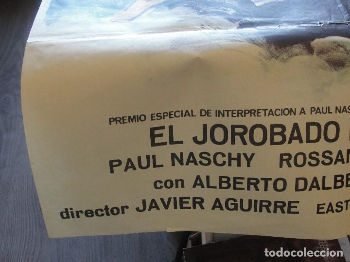 Coleccionismo de carteles: PAUL NASCHY EL JOROBADO DE LA MORGUE - 100 X 70 CMS - ENVIO GRATIS - CARTEL ORIGINAL - Foto 3 - 182701922