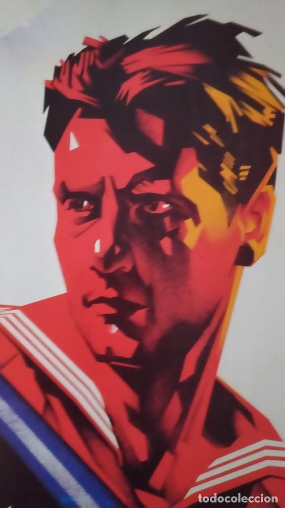Coleccionismo de carteles: Reproducción de Cartel Un Marino CNT GUERRA CIVIL artista Arturo Ballester exposición La Caixa 1986 - Foto 3 - 210076905