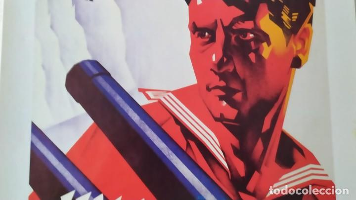 Coleccionismo de carteles: Reproducción de Cartel Un Marino CNT GUERRA CIVIL artista Arturo Ballester exposición La Caixa 1986 - Foto 5 - 210076905