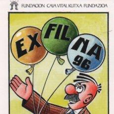 Coleccionismo de carteles: LOTE DE 4 TAJETAS EDITADAS POR LA CAJA VITAL KUTXA -FESOFI-VER MAS FOTOS. Lote 210456597