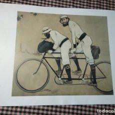Collectionnisme d'affiches: REPRODUCCIÓN DEL CUADRO DE RAMON CASAS PERE ROMEU EN UN TÀNDEM BARCELONA, 1897. DIARIO ARA.. Lote 211900196