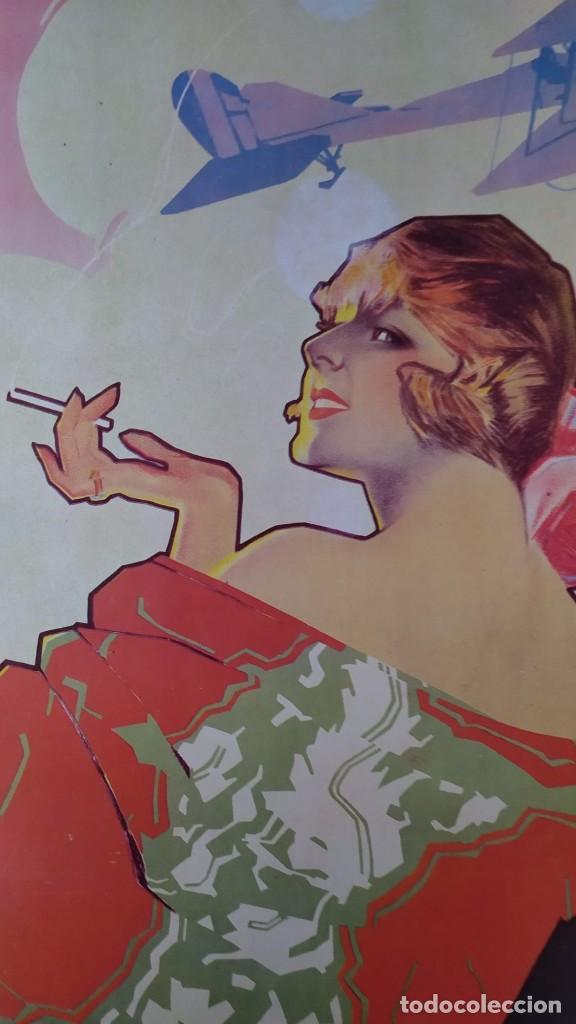 Coleccionismo de carteles: Reproducción de Cartel EL AS Papel de fumar del artista Arturo Ballester exposición La Caixa 1986 - Foto 2 - 213020012