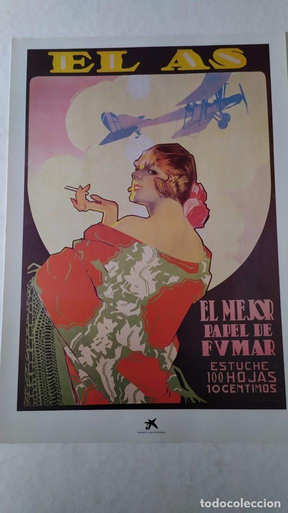 Coleccionismo de carteles: Reproducción de Cartel EL AS Papel de fumar del artista Arturo Ballester exposición La Caixa 1986 - Foto 3 - 213020012