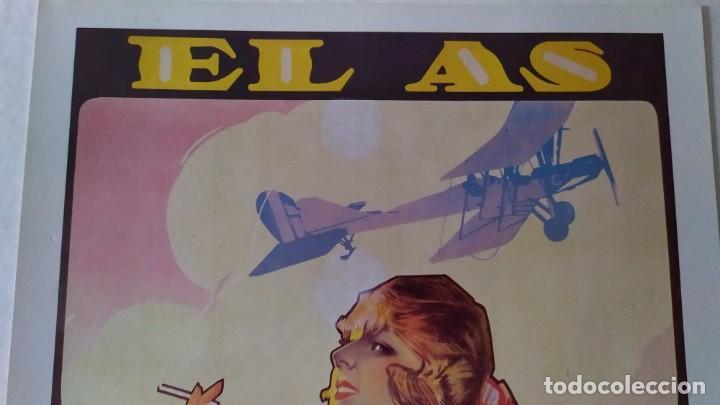 Coleccionismo de carteles: Reproducción de Cartel EL AS Papel de fumar del artista Arturo Ballester exposición La Caixa 1986 - Foto 5 - 213020012