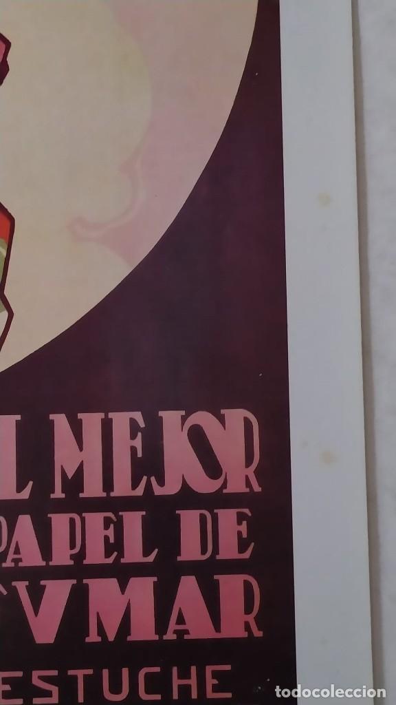 Coleccionismo de carteles: Reproducción de Cartel EL AS Papel de fumar del artista Arturo Ballester exposición La Caixa 1986 - Foto 6 - 213020012