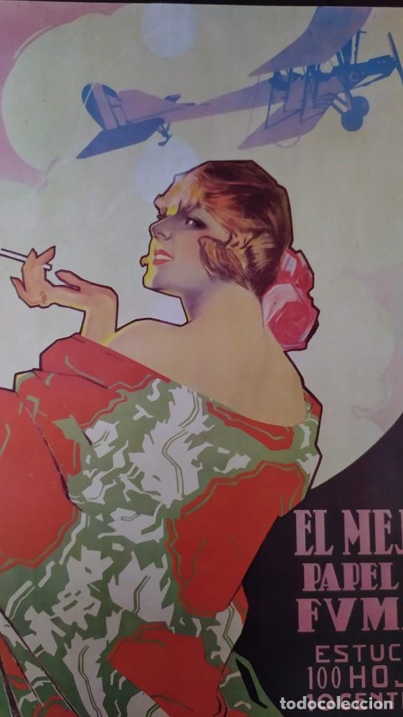 REPRODUCCIÓN DE CARTEL EL AS PAPEL DE FUMAR DEL ARTISTA ARTURO BALLESTER EXPOSICIÓN LA CAIXA 1986 (Coleccionismo - Reproducciones de carteles)