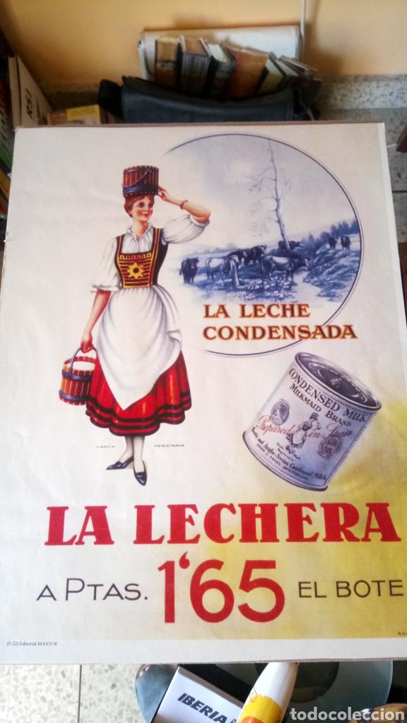 PÓSTER REPRO DE LECHE CONDENSADA LA LECHERA. (Coleccionismo - Reproducciones de carteles)