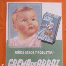 Coleccionismo de carteles: CARTEL - REPRODUCCION ANTIGUA PUBLICIDAD RIERA MARSA CREMA DE ARROZ - 29 X 41.5 (INCLUIDO MARGENES). Lote 214171297