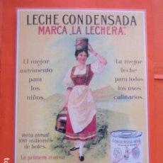 Coleccionismo de carteles: CARTEL - REPRODUCCION ANTIGUA PUBLICIDAD LECHE CONDENSADA LA LECHERA - 27.5 X 40 (INCLUIDO MARGENES). Lote 214171643