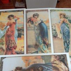 Coleccionismo de carteles: 4 LÁMINAS MUJERES REPRODUCCIÓNES A.G.DECAMPS. Lote 214898188