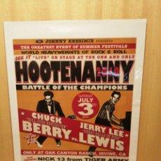 Colecionismo de cartazes: CHUCK BERRY. JERRY LEE LEWIS. CARTEL REPRODUCCIÓN CM. 44,5 X 31,5 CM. ROCK AND ROLL.. Lote 215058038
